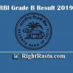 RBI Grade B Phase II Result 2019 - Download Reserve Bank Officers in Grade B Results