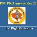 RPSC PRO Answer Key 2019