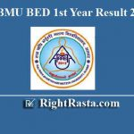 RRBMU BED 1st Year Result 2019
