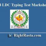 RSMSSB LDC Typing Test Marksheet - Response Sheet 2019