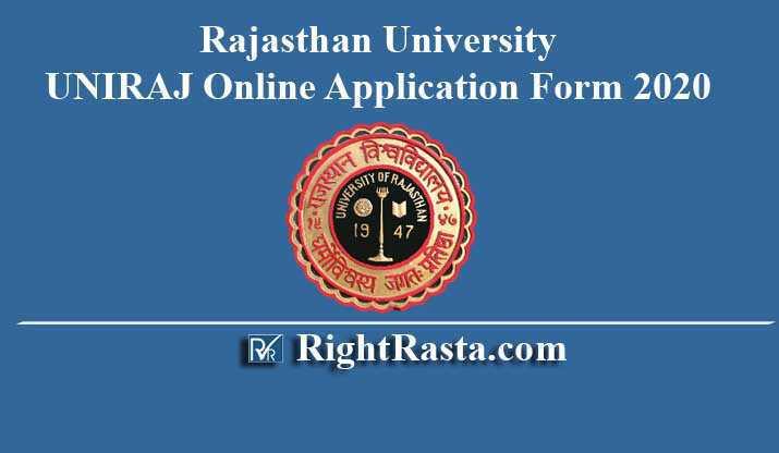 Rajasthan University UNIRAJ Online Application Form 2020