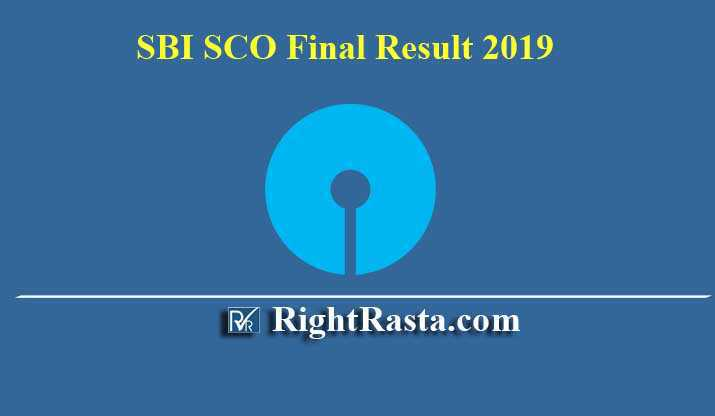 SBI SCO Final Result
