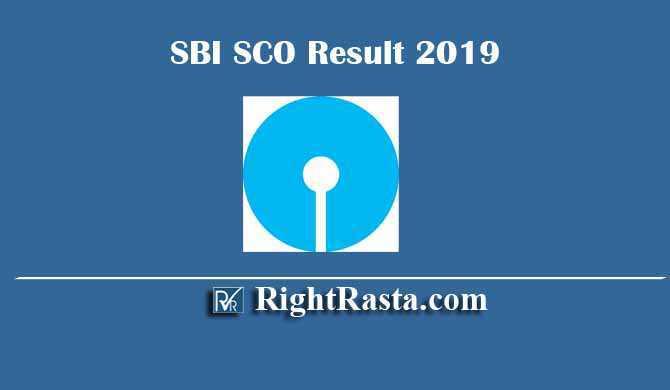 SBI SCO Specialist Cadre Officer Result 2019