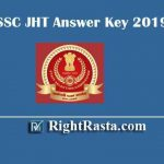 SSC JHT Answer Key 2019 | Download Junior Hindi Translator Paper I Official Answer Key PDF