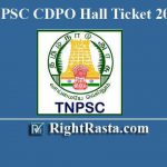 TNPSC CDPO Hall Ticket 2019