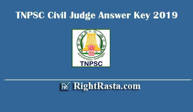 TNPSC Civil Judge Answer Key 2019