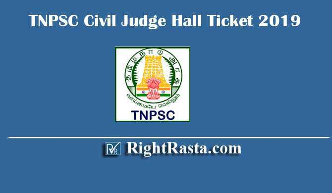 TNPSC Civil Judge Hall Ticket