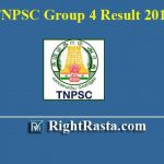 TNPSC Group 4 Result 2019