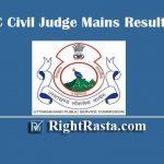 UKPSC Civil Judge Mains Result 2019