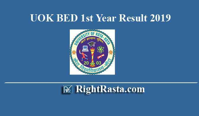 UOK BED 1st Year Result