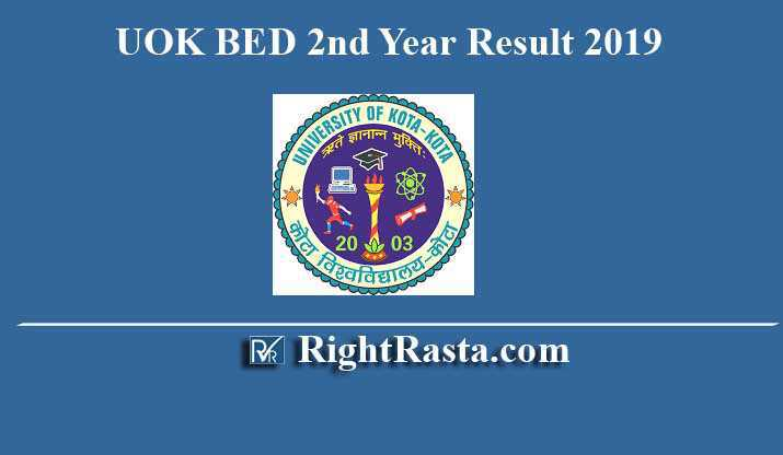 UOK BED 2nd Year Result