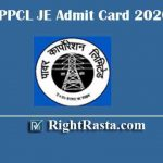 UPPCL JE Admit Card 2020 | Download UP Energy Junior Engineer Civil Hall Tickets 2019
