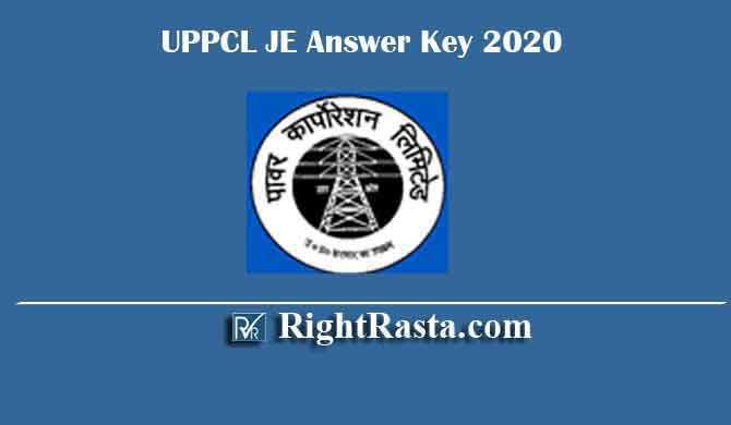 UPPCL JE Answer Key 2020
