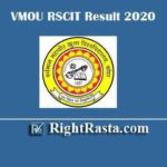 VMOU RSCIT Result 2020 | Download RKCL RS-CIT 19 January 2020 Exam Results