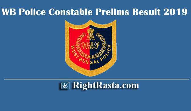 WB Police Constable Prelims Result 2019
