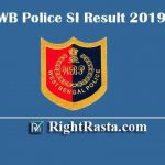 WB Police SI Result 2020 | Download WBP Sub Inspector Prelims Results 2019