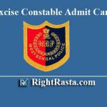 WBP Excise Constable Admit Card 2019