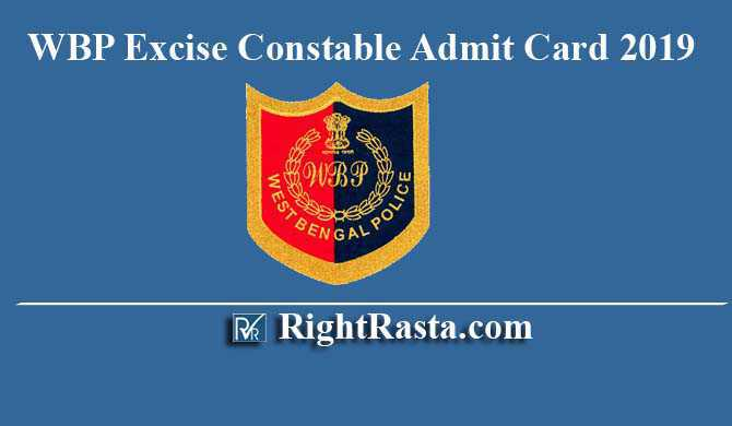 WBP Excise Constable Admit Card