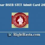 BSEB STET Admit Card 2019 | Download Bihar State Teacher Eligibility Test Exam Hall Ticket @ bsebstet2019.in