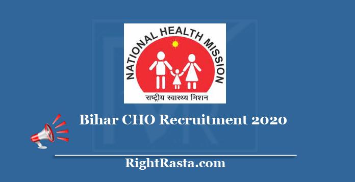 Bihar CHO Recruitment 2020