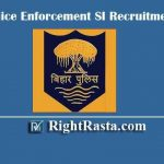 Bihar Police Enforcement SI Recruitment 2019