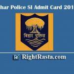 Bihar Police SI Admit Card 2019 | Check BPSSC Daroga Pre Exam Date @ bpssc.bih.nic.in