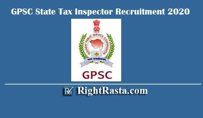 GPSC State Tax Inspector STI Recruitment 2020