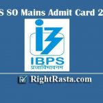 IBPS SO Mains Admit Card 2020 | Download Specialist Officer Hall Ticket & Check Exam Date @ ibps.in