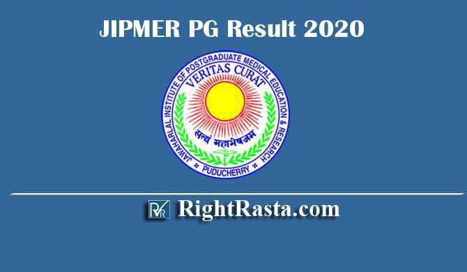 JIPMER PG Result 2020