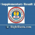 JNVU Supplementary Result 2019 - Download Jai Narain Vyas University Jodhpur BA, BSC, BCOM, 1st, 2nd, 3rd Year Supply Exam Result download @ jnvu.co.in
