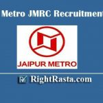 Jaipur Metro JMRC Recruitment 2020 - Apply Online Form for Station Controller / Train Operator (SC/TO), Junior Engineer (JE), Customer Relations Assistant (CRA), and Maintainer