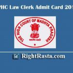 MPHC Law Clerk Admit Card 2019 | Download Madhya Pradesh High Court LC Exam Hall Ticket