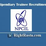 NPCIL Stipendiary Trainee Recruitment 2020 | Apply Online Form for NPCIL ST/SA Vacancy @ www.npcilcareers.co.in