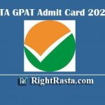 NTA GPAT Admit Card 2020 - Download Graduate Pharmacy Aptitude Test 2020 Hall Tickets @ www.gpat.nta.nic.in