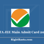 NTA JEE Main Admit Card 2020 (Out) Download Joint Entrance Test Provisional Hall Ticket