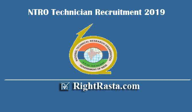 NTRO Technician Recruitment 2019