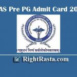 RAJUVAS Pre PG Admit Card 2019-20 - Download Rajasthan University Of Veterinary And Animal Sciences Bikaner M.V.Sc./Ph.D Exam Admit Cards @ rajuvas.org