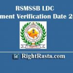 RSMSSB LDC Document Verification Date 2019 - Downlaod Rajasthan RSSB Clerk DV List, Check DV Date/Schedule