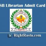 RSMSSB Librarian Admit Card 2019 - Released Today