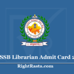 RSMSSB Librarian Admit Card 2020 (Out)- Download RSSB Library Hall Ticket