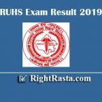 RUHS Exam Result 2019 Released Download RUSH Diploma & BSC Degree Results @ ruhsraj.org