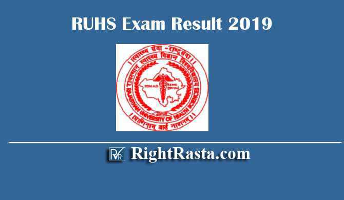 RUHS Exam Result 2019