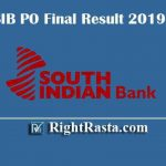 SIB PO Final Result 2019 - Download South Indian Bank Probationary Officer Final Results