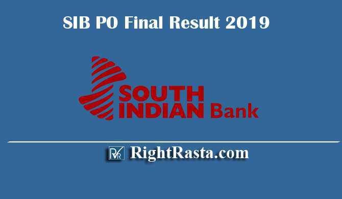 SIB PO Final Result 2019