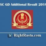 SSC GD Additional Result 2018 | Download SSC Constable Revised Results to PET/PST
