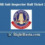 TNUSRB SI Hall Ticket 2020 | Download Tamil Nadu TNUSRB Sub Inspector Exam Admit Cards @ tnusrbonline.org