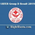 UBTER Group D Result 2019 | Uttarakhand Civil/Family Courts Group 4 Exam Result With DV Schedule