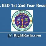 UOK BA BED 1st 2nd Year Result 2019 - Download University of Kota B.A B. Ed. Integrated Exam Results @ www.uok.ac.in