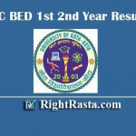 UOK BSC BED 1st 2nd Year Result 2019 - Download University of Kota B.Sc. B. Ed. Integrated Exam Results @ www.uok.ac.in