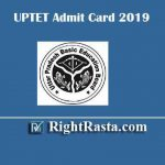 UPTET Admit Card 2019 | Exam Postponed (New Exam Date 19 January 2020)